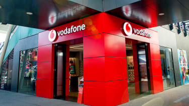 The front of a Vodafone store
