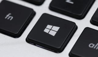 The Windows (start menu) key on a keyboard