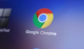 Chrome thumbnail on a computer screen