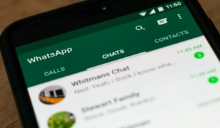 WhatsApp chat on a smartphone screen