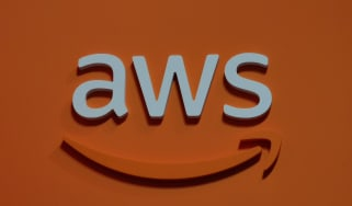 Orange AWS logo