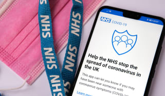 A smartphone displaying the NHS Covid-19 app