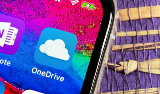OneDrive logo on a smartphone screen