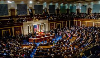 The senate floor during a vote