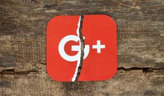 A crack running through Google+ logo