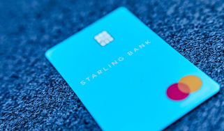 Starling's banking card on a carpet