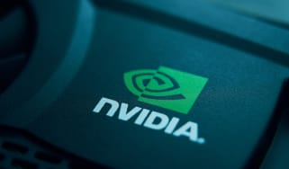 Nvidia's logo on a piece of its hardware