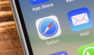 The Safari logo displayed on an iPhone screen
