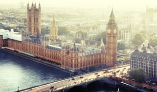 A view of the Houses of Parliament in Westminster