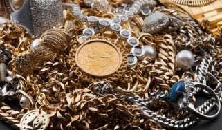 A collection of valuable goods including metals and jewellery