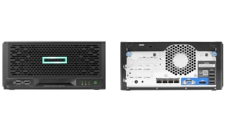 HPE MicroServer Gen10 Plus front and rear
