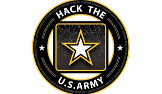 Hack the Army logo on a white background