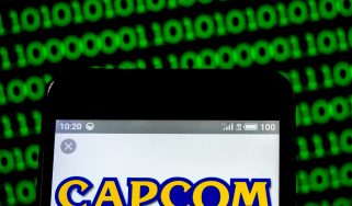 CAPCOM logo on a smartphone screen