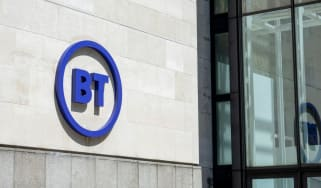 The facade of BT corporate office in London, UK