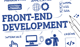 Front-end development infographic