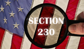 Section 230 on a flag under a microscope