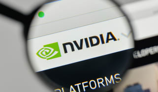 Nvidia website under a magnifying glass