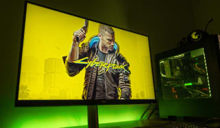 The cover of CD Projekt's Cyberpunk 2077 on a computer display