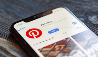 The Pinterest app on a smartphone