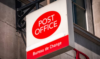 Post Office branch signage on a building
