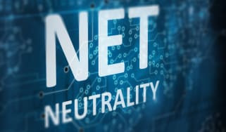 Net neutrality on an abstract tech background