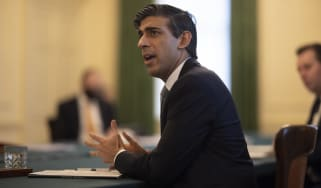 The Chancellor, Rishi Sunak, in a Downing Street meeting