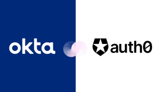 Graphic depicting the merger between Okta and Auth0