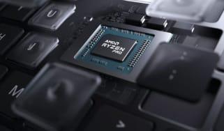 An AMD Ryzen Pro 5000 processor inside a laptop