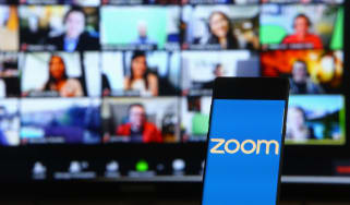 Zoom monitors in the background of a mobile device