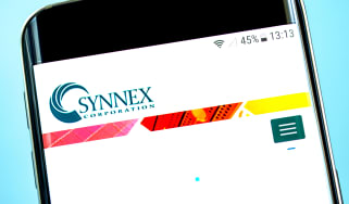 Synnex homepage on a smartphone