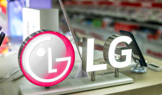 LG logo on a smartphone display