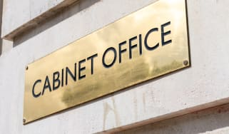A sign for the UK government's Cabinet Office