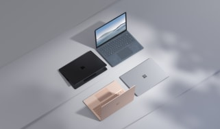 The Microsoft Surface Laptop 4 in a range of colours