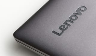 A Lenovo laptop lid
