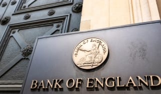 The sign outside of the Bank of England