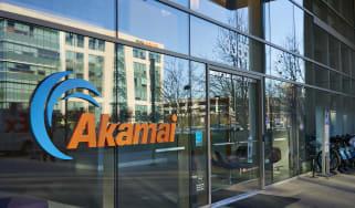 Akamai building with logo