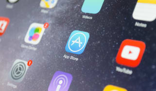 The App Store logo displayed on a smartphone