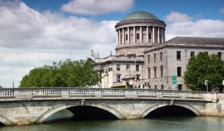 A view of the Irish High Court building in Dublin