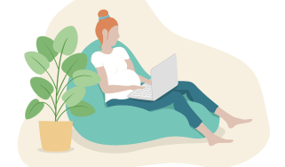 pregnant woman working remotely