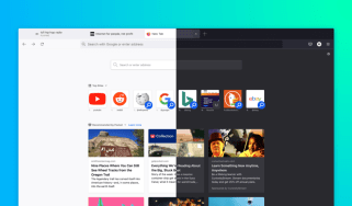 The new Firefox UI with version 89 in both light and dark modes side-by-side