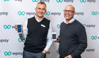 An image of the Wpay launch with Woolworths CEO Brad Banducci and Wpay managing director Paul Monnington
