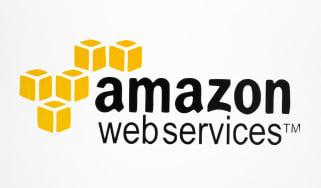 Amazon Web Services logo on a white background
