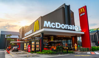 The exterior of a McDonald's restaurant in Taiwan