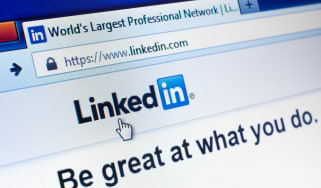 The home page for LinkedIn's website