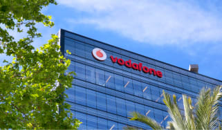 Vodafone sign on a building