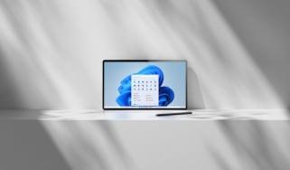 Microsoft's new Windows 11 OS on a tablet