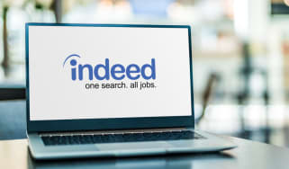 The Indeed website on a laptop