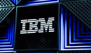 IBM logo displayed on a piece of hardware