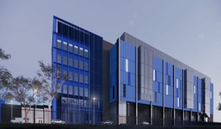 A mockup of what the new data centre building will look like