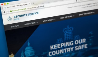 The homepage of the official website for the MI5 Security Service
